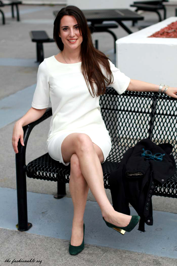 styling a white shift dress