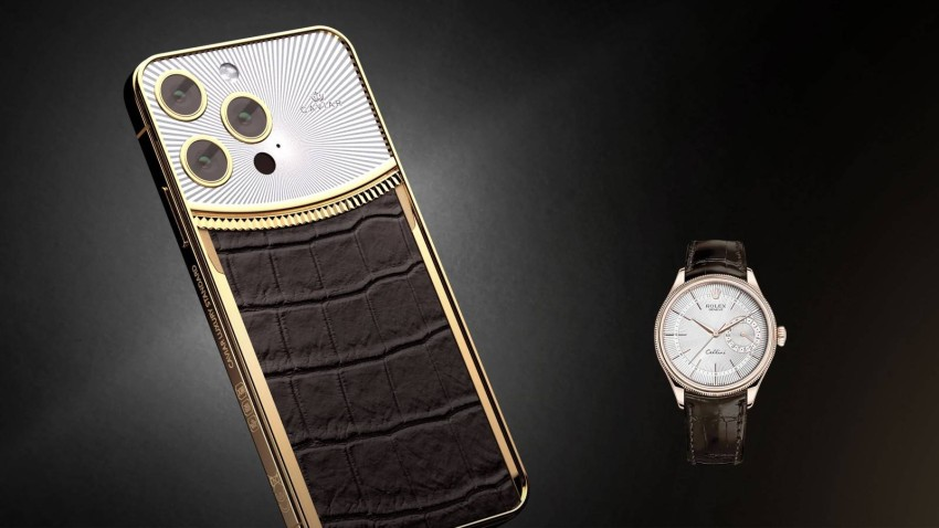 Caviar decorates iPhone 13 Pro in a Rolex suit Caviar Luxury continued to decorate iPhones, and now it was the turn of the iPhone 13 Pro and 13 Pro Max, and the designs were inspired by Rolex watches.