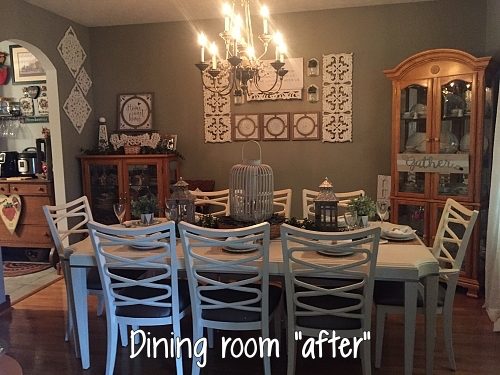 "dining room ""after"" makeover"
