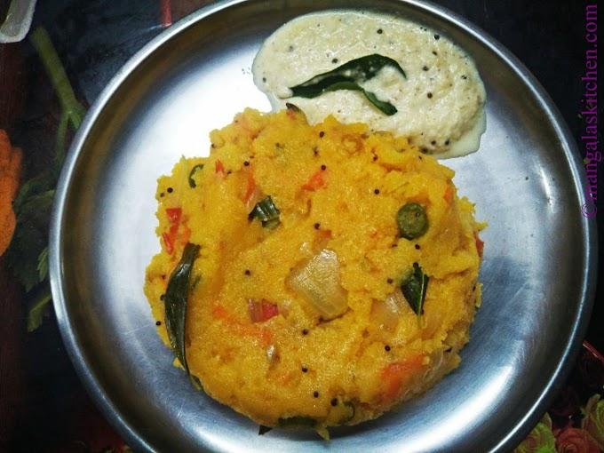 Khara Bath | Masala Rava Bath | Karnataka Breakfast Recipe