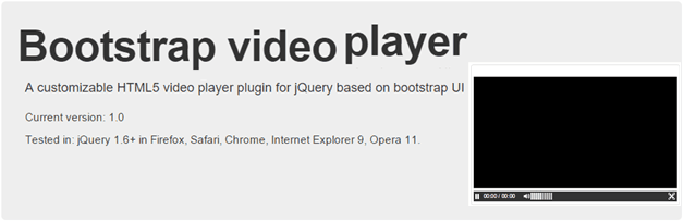 Bootstrap responsive video player with advance setting
