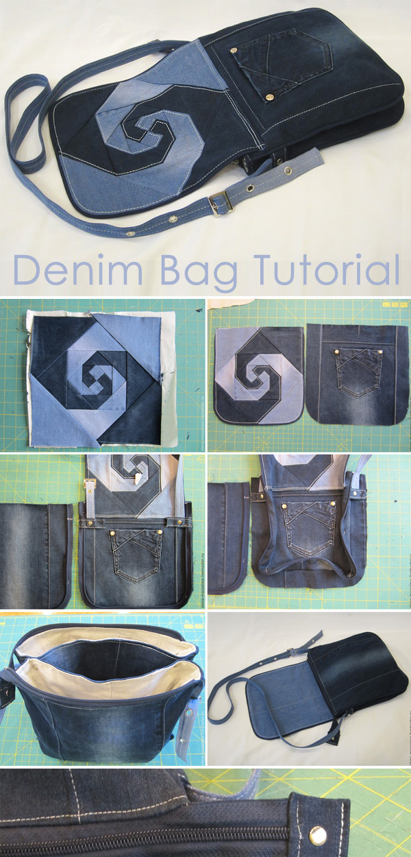 Bag of Old Jeans. Tutorial