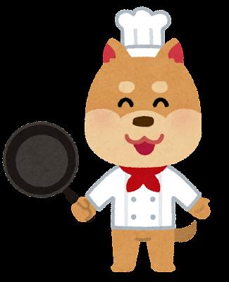 動物のシェフのキャラクター(犬)