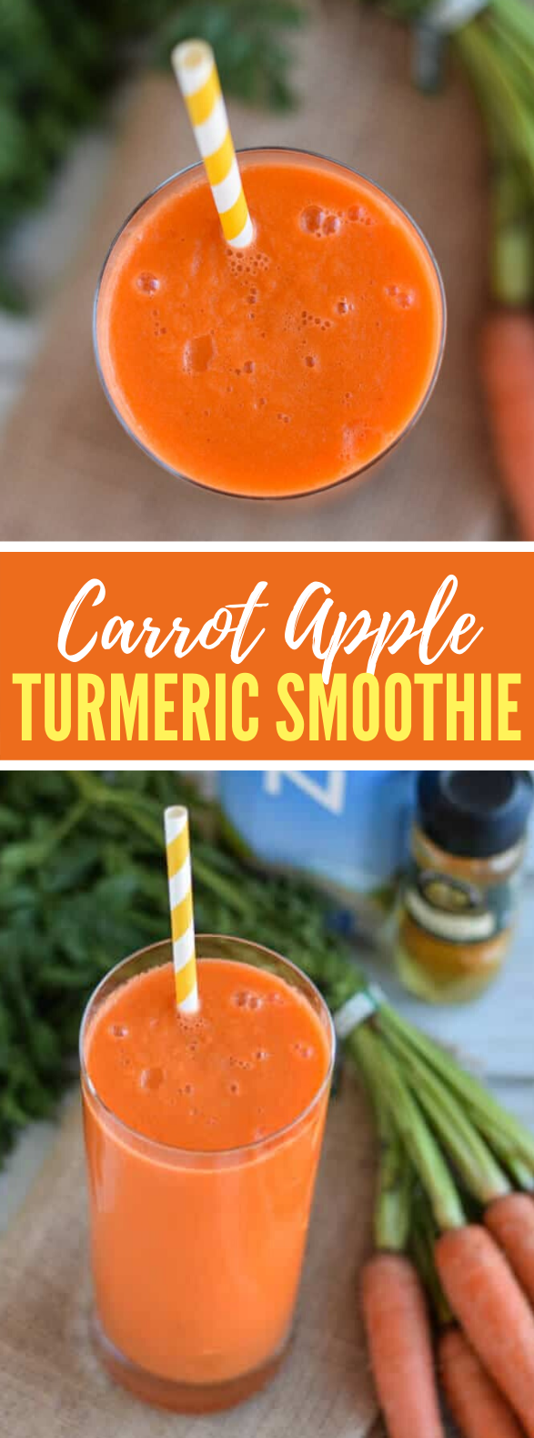 CARROT, APPLE AND TURMERIC SMOOTHIE #drink #healthy
