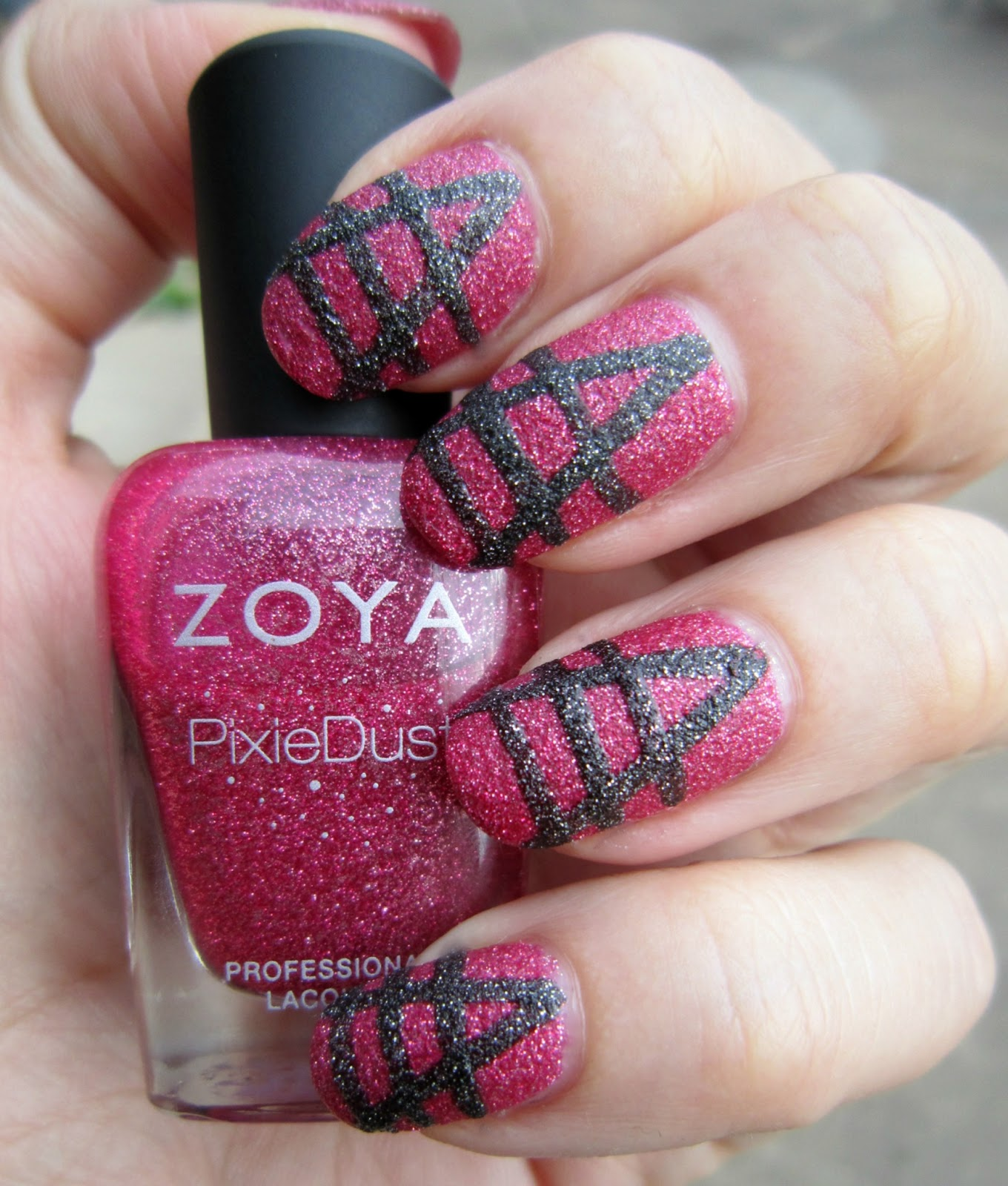 concrete and nail polish another art deco nail art attempt with zoya pixie dusts. Black Bedroom Furniture Sets. Home Design Ideas