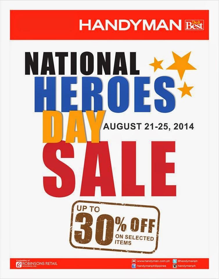 Manila Shopper: Handyman National Heroes Day SALE 2014