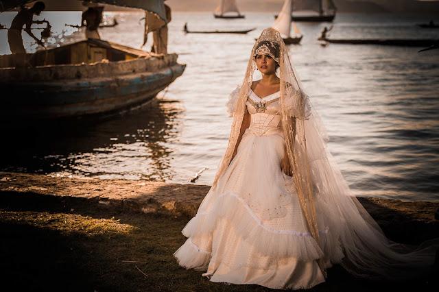 Maria Tereza (Julia Dallavia), Vestido de noiva, casamento