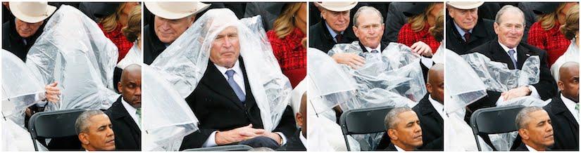 George W Bush versus Rain Poncho