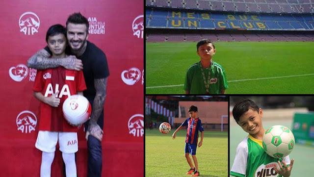 Reno Salampessy adu juggling dengan David Beckham