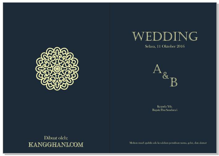 Cara Membuat Undangan Pernikahan Yang Menarik Kang Ghani