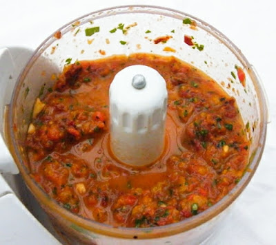 pasta sauce in mini food processor