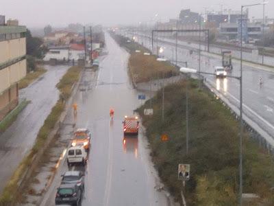 """Κόμβος """"Αλεξιάδη"""" στην Εθνική οδό σήμερα το πρωί στις 11:00 (Φώτο αναγνώστη)"""
