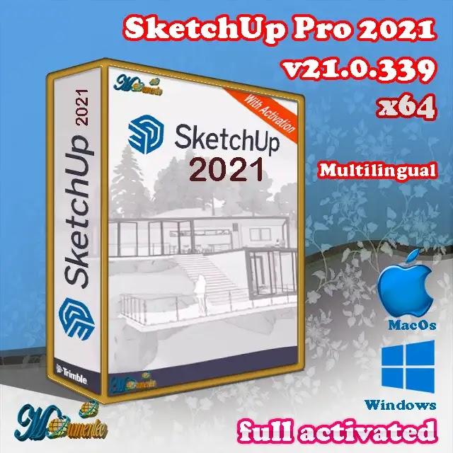 sketchup Pro 2021 Free | تحميل v21.0.339 x64 Multiling