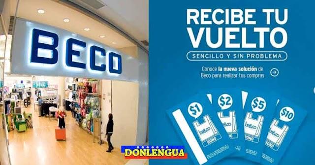 Tiendas BECO lanza su propio billete de Dólar para dar vuelto