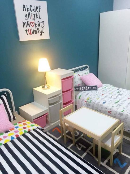 dekorasi kamar anak warna pink pastel