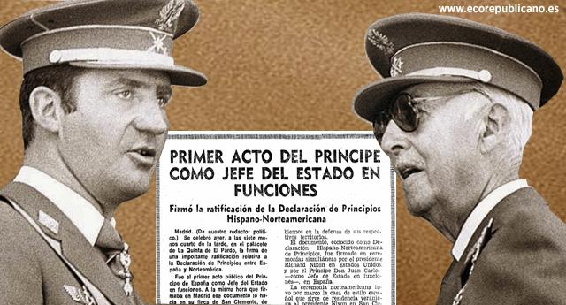 Durante 43 días Juan Carlos de Borbón fue Jefe de Estado del franquismo