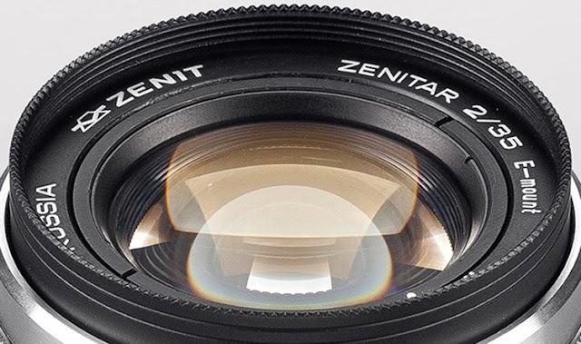 Rusya'da üretilmiştir Zenitar-12 lens, tam kare aynasız kameralar için tasarlanmıştır