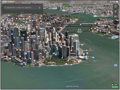An Excellent Apple Map's Feature to Teach Students Geography in 3D