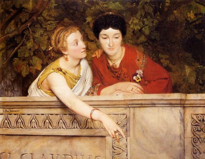 Mulheres Romanas - As mais belas pinturas de Lawrence Alma-Tadema - (Neoclassicismo)