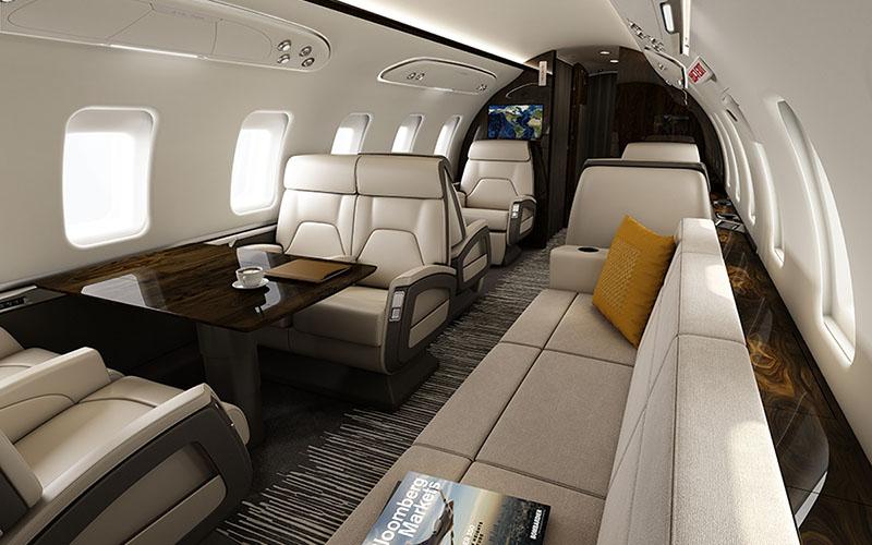 Салон самолёта Challenger 604