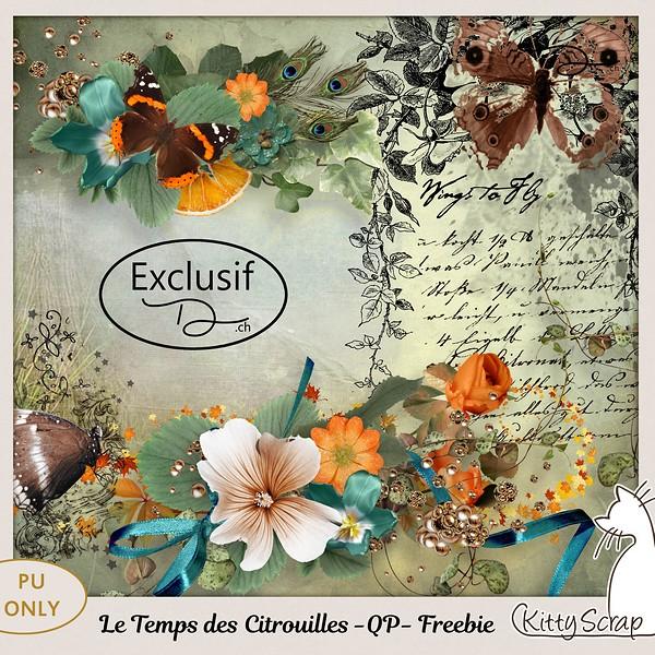 Kit le Temps des citrouilles + freebie de Kittyscrap