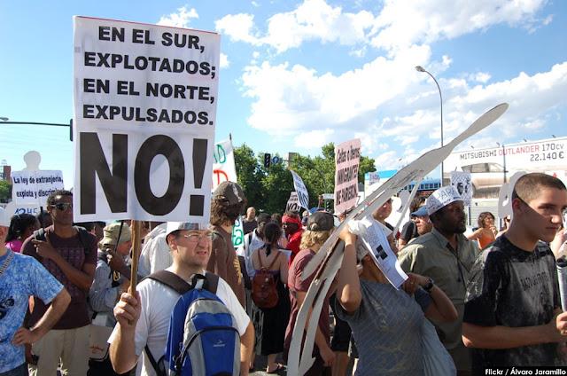 Manifestación contra la Ley de Extranjería