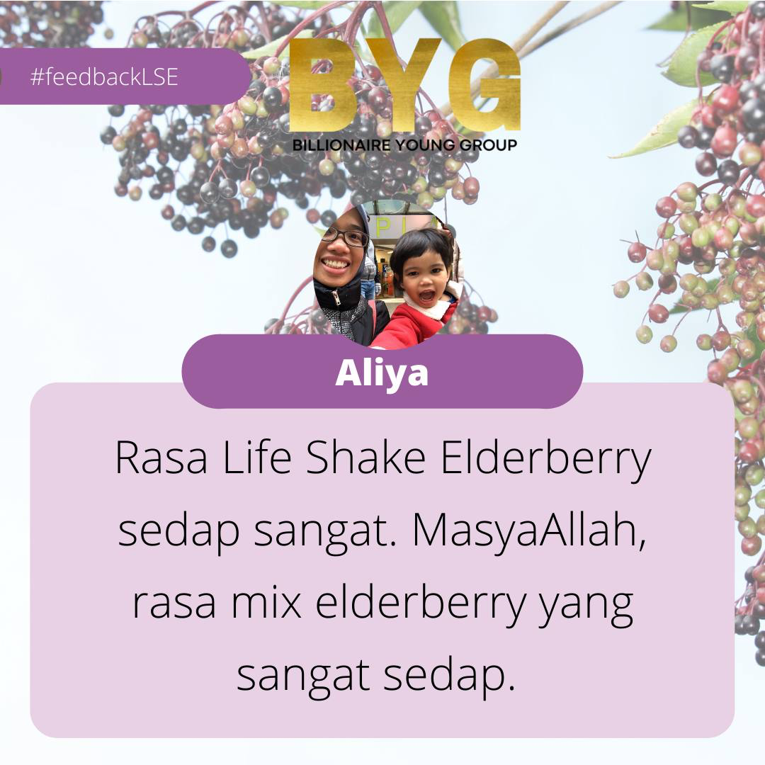 Testimoni life Shake elderberry