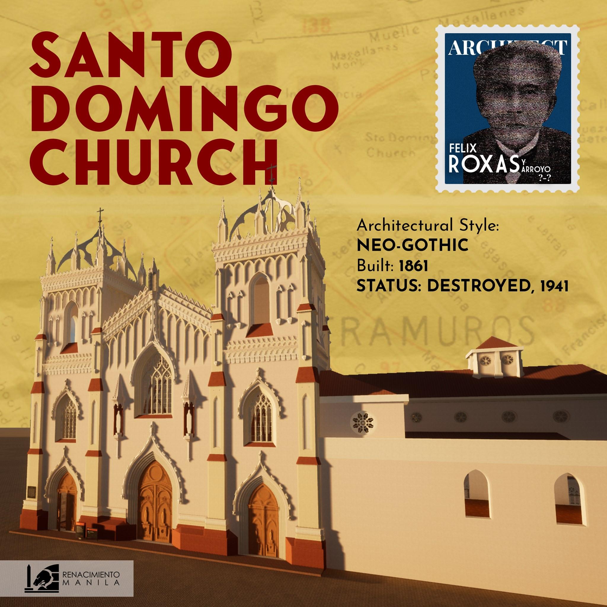Santo Domingo Church - Felix Roxas y Arroyo (1823-1887)