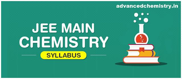 JEE Main Chemistry Syllabus NTA