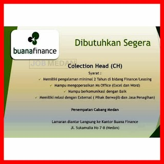 Collection Head di PT Buana Finance Tbk