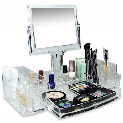 Buy Nile Corp Wholesale Luxury Cosmetic Make Up Organizer With Two-Sided Mirror