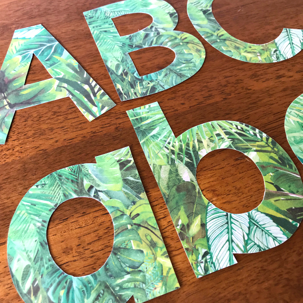 Tropical Letters and Numbers | you clever monkey