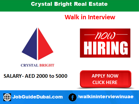 Crystal Bright Real Estate career for property consultant jobs in Dubai UAE