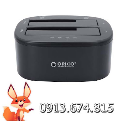HDD Docking Orico 2 bays 2.5″ – 3.5″ USB 3.0 Sata III Orico 6228US3-C-BK