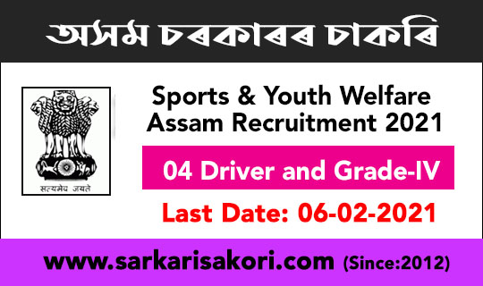 Sports & Youth Welfare Assam Recruitment 2021