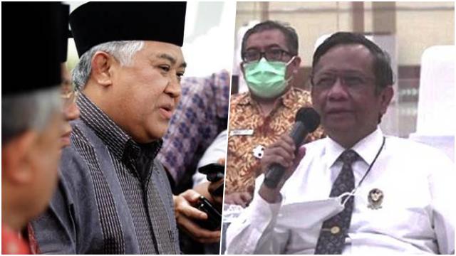 Mahfud MD Tegaskan Pemerintah Tidak Memproses Laporan Terkait Din Syamsuddin