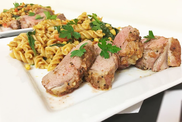 Lamb Mini Roast with Red Pesto Pasta