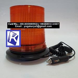 Jual Rotary Beacon WL27 LED Plus Lighter Magnet Amber di Jakarta