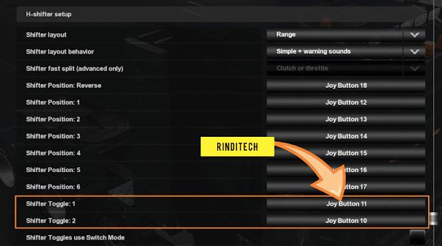 Setting Shifter Logitech menjadi 12 Speed di ETS 2