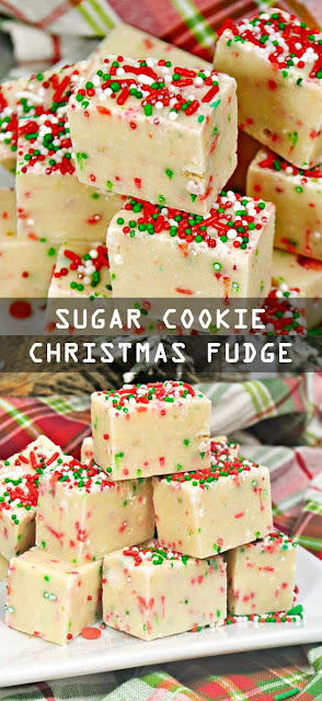 Very Easy Sugar #Cookie #Christmas Fudge #Recipe