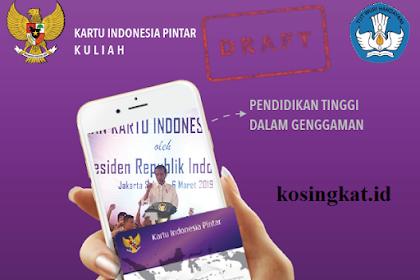 Download Pedoman KIP Kuliah 2020 Terbaru