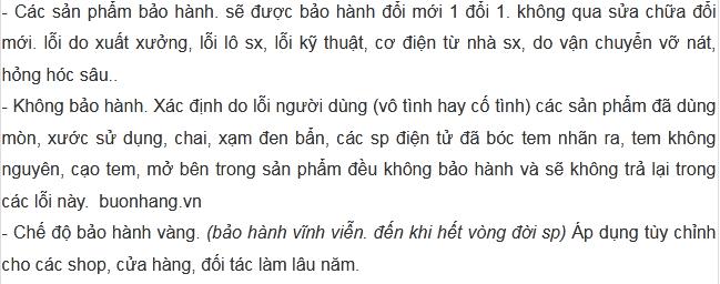 BẢO HÀNH BUONHANG