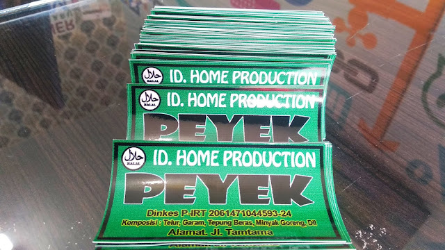 Stiker Makanan Home Production Peyek
