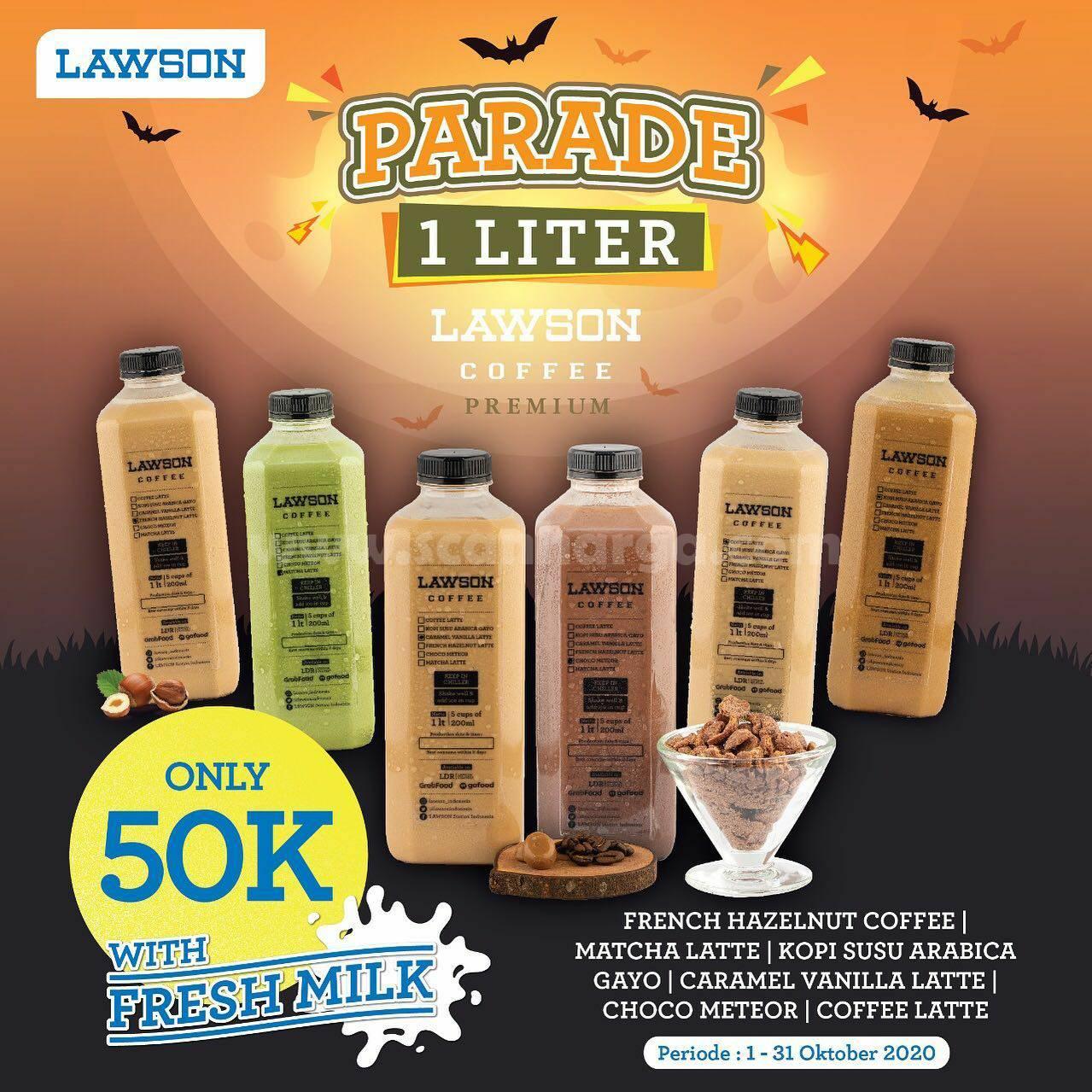 Promo Lawson Parade 1 Liter – Harga Spesial Lawson Coffee 1 liter Cuma Rp. 50.000