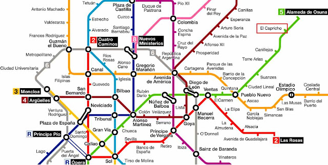 llegar en metro al parque El Capricho Madrid