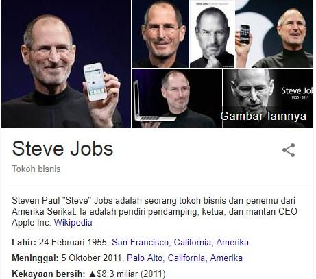 Kata-Kata Mutiara Steve Jobs Yang Menginspirasi