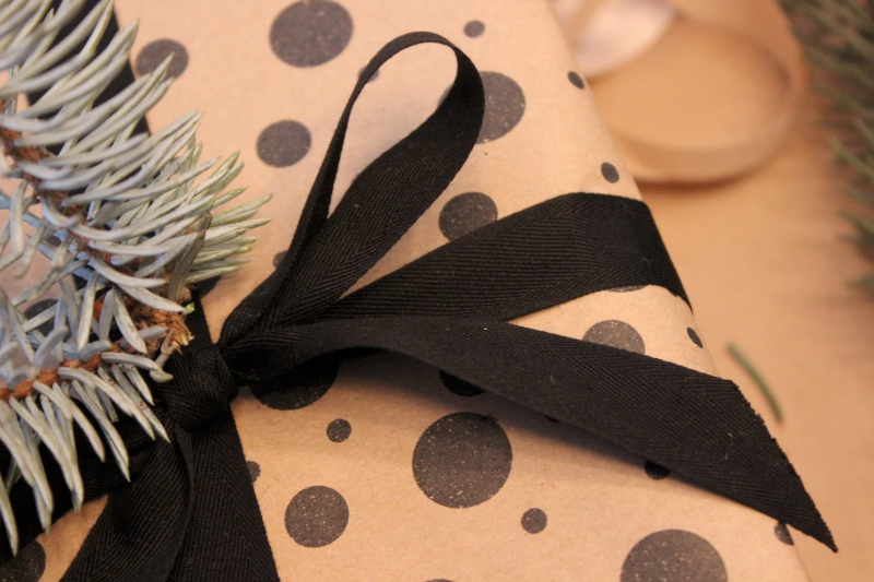 black cotton ribbon