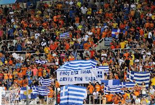 Υποδοχή των Αζέρων στο ΓΣΠ, με 5 χιλιάδες Ελληνικές σημαίες