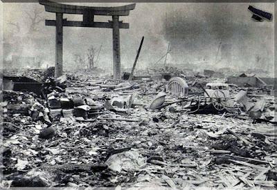 Снимка от най голямото масово убийство в историята  извършено по заповед на американския президент  Труман в Япония