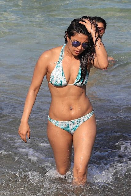Actress Priyanka Chopra in bikini bra